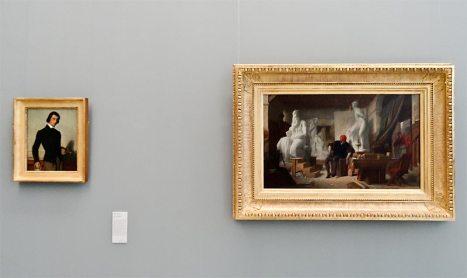 Musée Fabre Nouvelles Acquisitions - Alexandre Cabanel, Portrait d'un jeune artiste et Michel-Ange dans son atelier