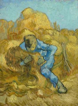 Vincent van Gogh, Le Botteleur (d'après Millet), 1889. Huile sur toile, 44,5 cm x 33,1 cm. Van Gogh Museum, Amsterdam (Vincent van Gogh Foundation)