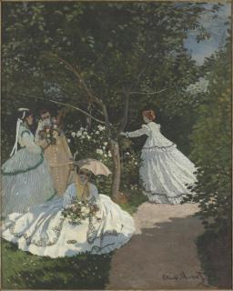 Claude Monet, Femmes au jardin, à Ville d'Avray, vers 1866. Huile sur toile. 256 x 208 cm. Paris, musée d'Orsay. Photo (C) RMN-Grand Palais (musée d'Orsay) / Hervé Lewandowski/ Service presse/musée d'Orsay.