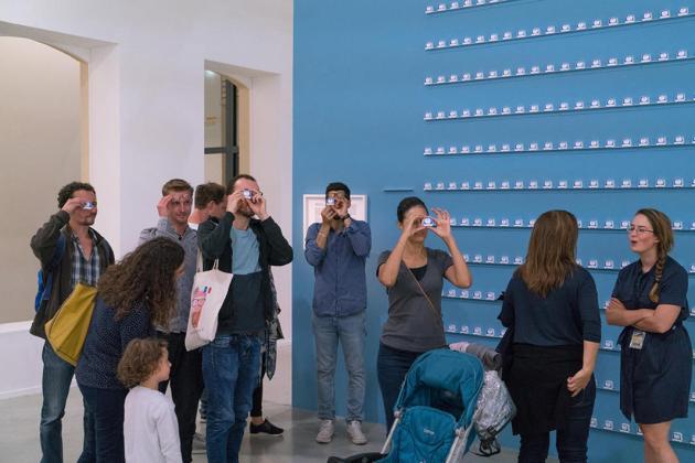 Exposition Terminal P à la Panacée Commissariat Franck Bauchard © Olivier Cablat. Thibaut de Ruyter, Esther Mysius, Camille Rouaud, Terminal Velocity, 2015
