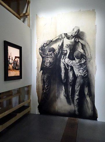 Jean Genet, l'échappée belle au MuCEM - vue de l'exposition - Le Journal du voleur - Ernest Pignon Ernest (Ernest PIGNON, dit), Parcours Jean Genet, 2006