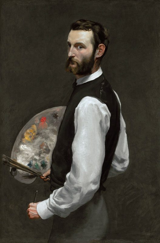Frédéric Bazille, Autoportrait à la palette, 1865-1866. Huile sur toile 108,9 x 71,1 cm Chicago, The Art Institute of Chicago, restricted gift of Mr. and Mrs. Frank H. Woods in memory of Mrs. Edward Harris Brewer (1962.336)