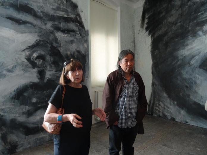 Noëlle Tissier et Yan Pei-Ming au Lycée Charles de Gaulle à Sète