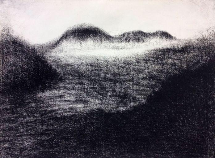 Odile Maarek, Sans Titre, 2015, craies Comté sur papier Ingres, 49,5 x 74,5 cm (Galerie Bernard Jordan)
