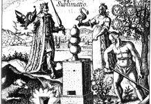 Exposition Athanor, Johan Daniel Mylius, Sublimatio, gravure extraite du traité d'alchimie Phylosophia reformata, 1622