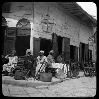Gaston Bouzanquet, Café en Egypte, 1925, Photographie, 40 x 40 cm. Musée de la Camargue © photographie de Gaston Bouzanquet, coll. Musée de la Camargue, PNR de Camargue. Num. David Huguenin