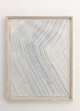 Keita Mori- Bug report (Flux), 2015, fil de coton et fil de soie sur papier, 50 x70 cm - Photo Iconoscope Montpellier