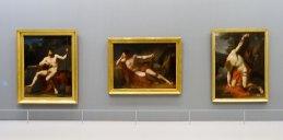 François-Xavier Fabre, Soldat romain au repos, académie, 1788 - Le repos du gladiateur, 1789 et Saint Sébastien expirant, 1789 - Musée Fabre - Galerie Houdon