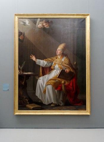 Joseph-Marie Vien, Saint Grégoire Le Grand, pape, 1766 - Musée Fabre - Salle David