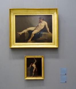 Joseph-Marie Vien, Étude académique», 1745-1750 et Regnault «Figure académique», ? - Musée Fabre - Galerie Houdon