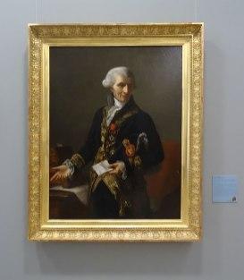 Joseph-Marie Vien II, Portrait de Joseph-Marie Vien, le père, 1804 - Musée Fabre - salle Gauffier
