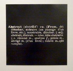 Joseph Kosuth, Statement Abstract, 1969, blow up, 115 x 115 cm