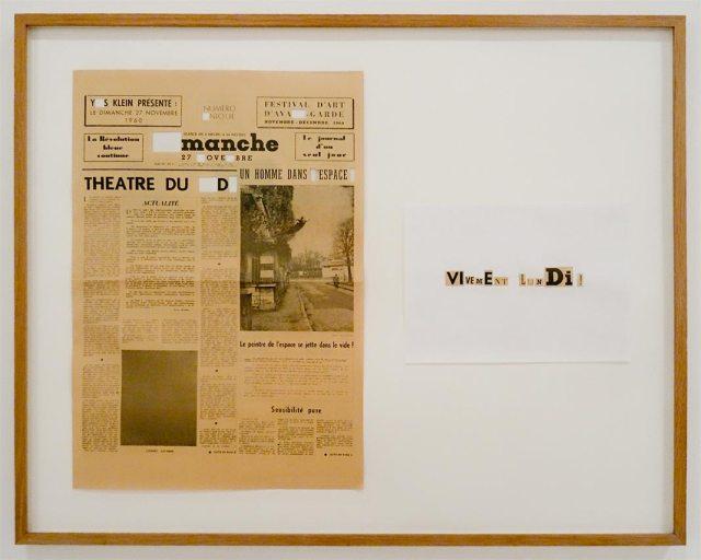 Yann Sérandour, Vivement lundi, 2006, journal, découpage, collage encadré, 87,5 x 70 cm