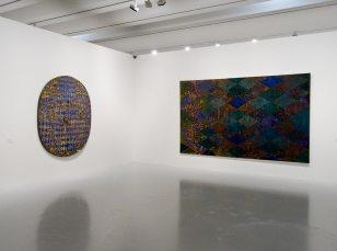 François Rouan, Tressages 1966-2016 au musée Fabre - Vue de l'exposition 03