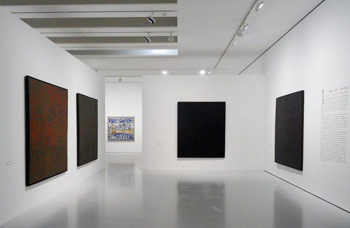 François Rouan, Tressages 1966-2016 au musée Fabre - Vue de l'exposition 09