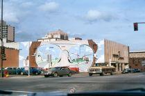 Donald Appleyard, Fresque murale, monuments sculpturaux, décembre 1978 © Donald Appleyard