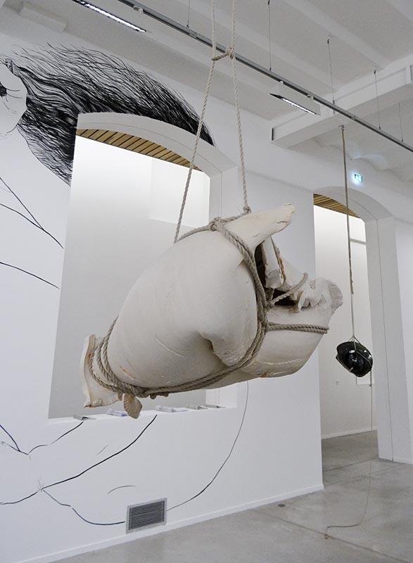Morgane Tschiember, Shibari (blanc), 2013. Retour sur Mulholland Drive - La Panacée Montpellier