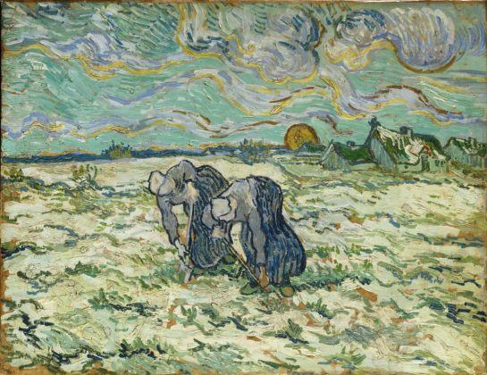 Vincent van Gogh, Les Sarcleuses 1890 Huile sur papier sur toile, 49,3 x 64 cm Collection Fondation E.G. Bührle