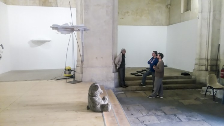 """Échanges... Mehdi Moutashar, Michel Amaral et Fabrice Leroux - photo """"Résidence lignes de vie"""""""