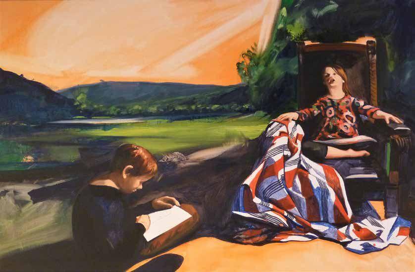 Abel Pradalié, Séance de pose, huile sur toile, 130 cm x 95 cm, 2016