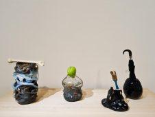 Erik Dietman, Mort à Venise, Bonbon moustas, Monorye et La Japonaise, 1993-1997