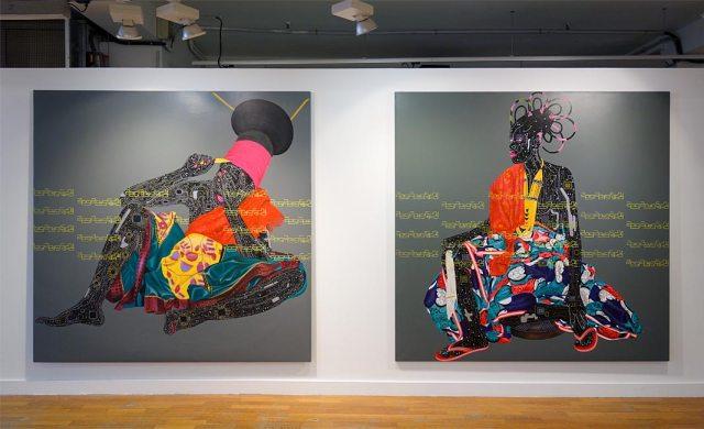 Eddy Kamuanga llunga, Negbele 2 et Lolendo - Beautiful Africa à la Galerie du 5e – Marseille