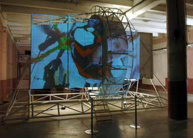 John Bock, Turning in Space, 2005 - Courtesy Galerie Klosterfelde, Berlin; Anton Kern, New York; Gio Marconi, Milan Photo : Blaise Adilon
