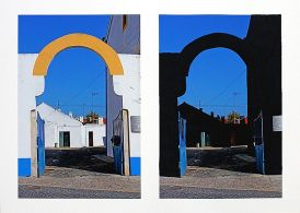 Yann Dumoget, Sans titre , Série L'oeuvre au noir, photographie/peinture. ©Yann Dumoget/galerie annie gabrielli.