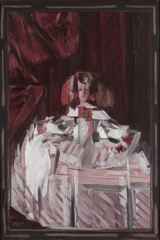 Fermín Aguayo Infante Margarita en rose, 1960-61 Huile sur toile, 195 x 130 cm © Aguayo. Courtesy Galerie Jeanne Bucher Jaeger, Paris Photo : J-L. Losi