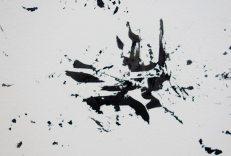 Julien Cassignol, 14-11-2016, 29-01-2017, 07-04-2017, 2017, mural, encre de chine (détail) - Galerie Vasistas