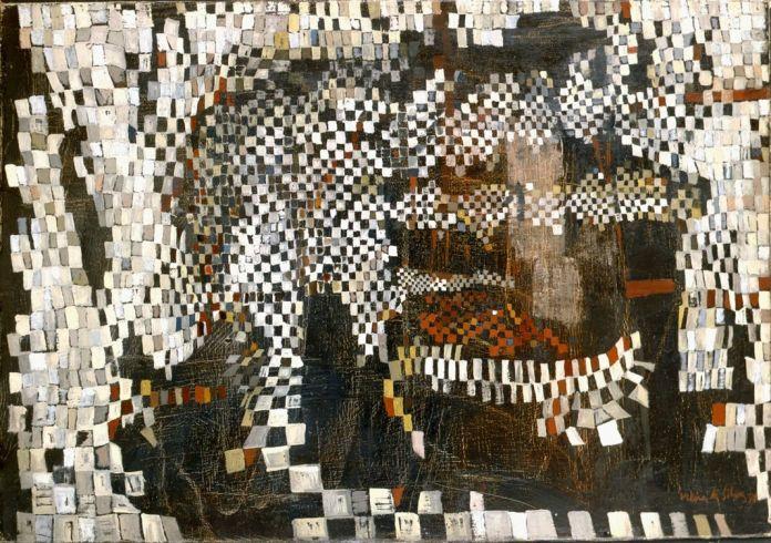 Maria Helena Vieira da Silva Intérieur nègre, 1950 Huile sur toile, 46 x 65 cm © Maria Helena Vieira da Silva Courtesy Galerie Jeanne Bucher Jaeger, Paris © ADAGP, Paris 2017 Photo : droits réservés