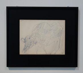 Jean Dubuffet, Vache, dessin au stylo bleu, 1954 - Jean Dubuffet - L'outil photographique Rencontres Arles 2017