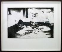Galerie Vasistas - Sylvain Fraysse, Rust Never Sleeps, 2017, pointe sèche sur plexiglas. Tirage en 3 exemplaires numérotés et 1 EA sur papier Magnani Revere Felt 330gr., 97 x 82 cm
