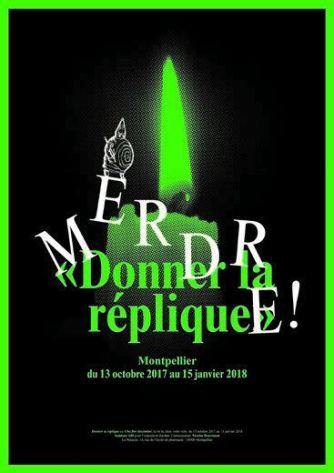 Saâdane Afif, Merdre ! Donner la Réplique ou Ubu Roi disséminé (poster), 2015 Sérigraphie 139 x 98 cm - Courtesy Saâdane Afif