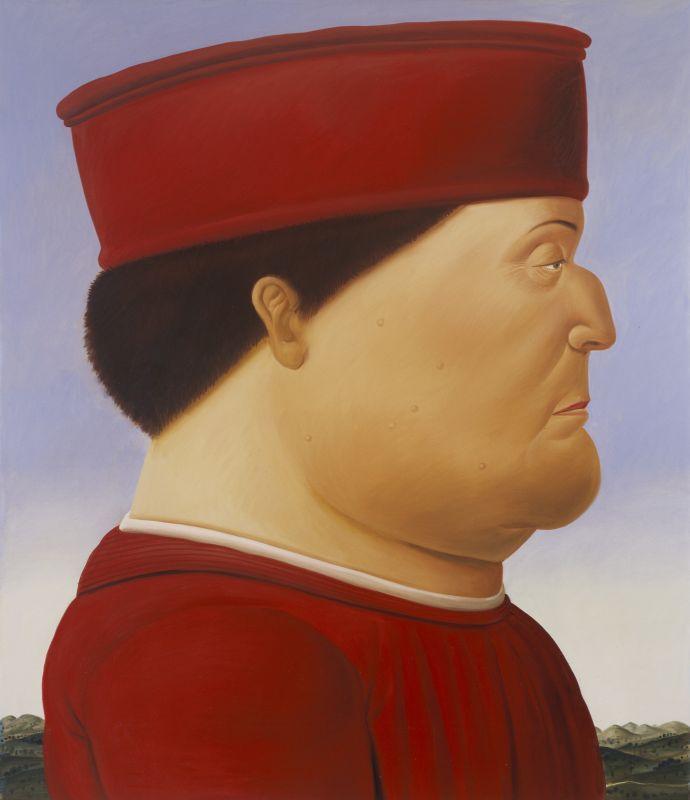 Fernando Botero, D'après Piero della Francesca (diptyque), 1998 Huile sur toile Chaque panneau 204 x 177 cm Collection privée © Fernando Botero