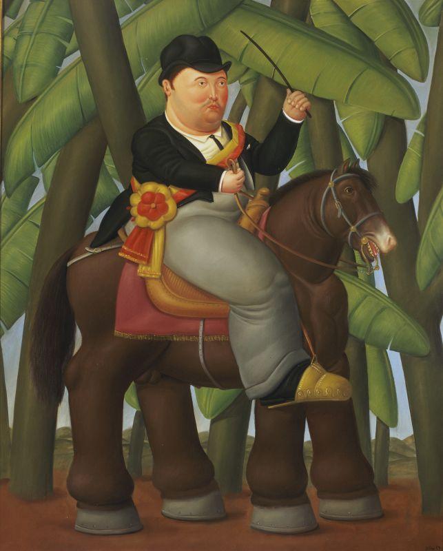 Fernando Botero, Le Président, 1989 Huile sur toile 203 x 165 cm Collection privée © Fernando Botero