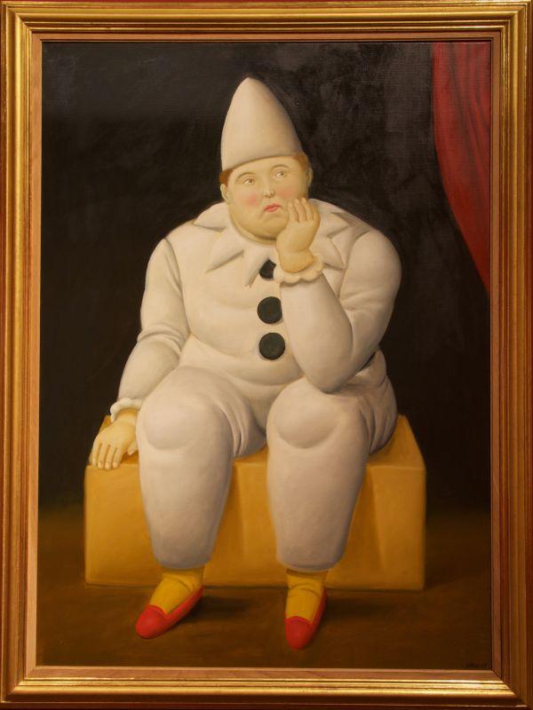 Fernando Botero, Pierrot, 2007 Huile sur toile 137 x 99 cm Collection privée © Fernando Botero
