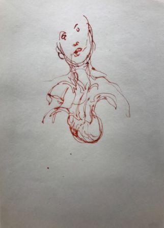 Gerard Traquandi - Sans titre, 2011 - Encre sur papier japon - 34,4 x 22,5 cm
