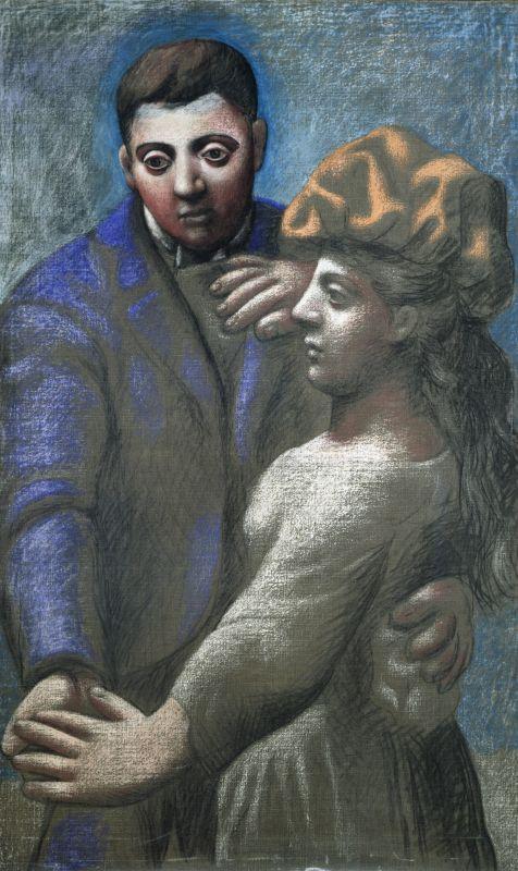 Pablo Picasso, La Danse villageoise, Paris, 1922 © Succession Picasso 2017 Pastel fixé et huile sur toile 139,5 x 85,5 cm Musée national Picasso-Paris Dation Pablo Picasso, 1979 MP73 © Succession Picasso 2017 © Photo : RMN-Grand Palais (Musée national Picasso-Paris) / Mathieu Rabeau