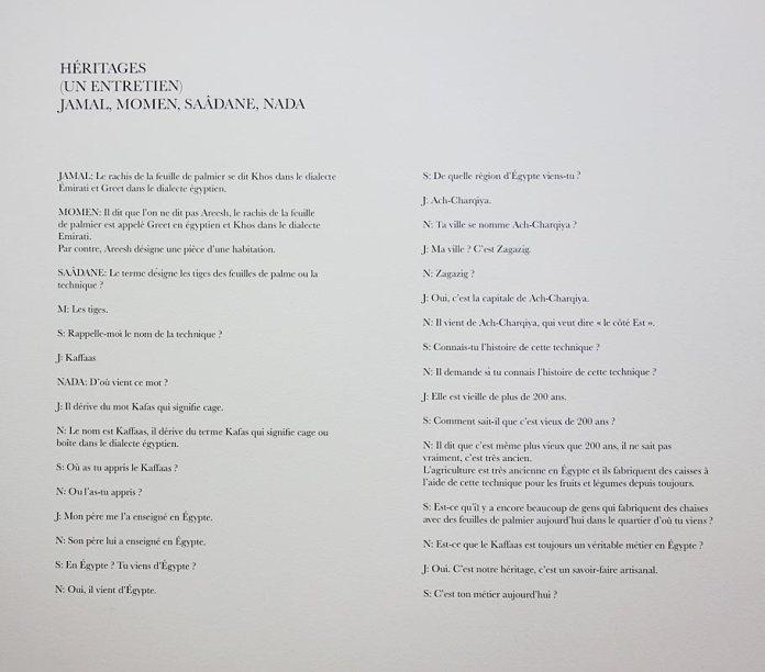Saâdane Afif , «Heritages» à La Panacée