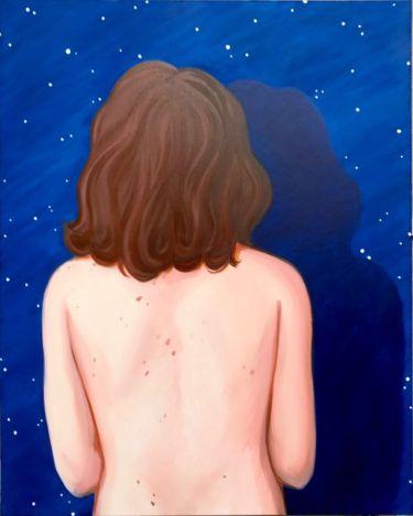 Stoufflet Lise, Le fond du ciel, huile sur toile, 195 cm x 130 cm, 2016