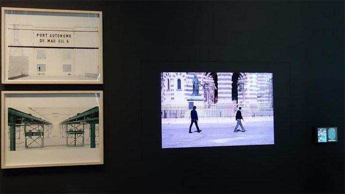 Francesco Jodice et Marie Pierre Florenson - Connectivités au Mucem - La Méditerranée aujourd'hui - Vue de l'exposition