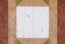 André-Pierre Arnal, Sans titre, 1973. Pliage, acrylique sur tissu, 220 x 220 cm