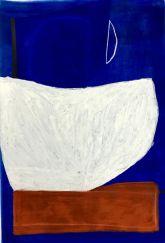 Caroline Denervaud, Equilibre et la lune, 2017. Caséine et pastel. 100 x 70 cm - Shapes, Body and Soul - Double V Gallery