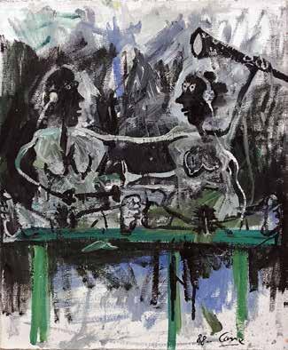 Louis Cane, Sans titre, 1988 Huile sur toile 65 cm x 54 cm