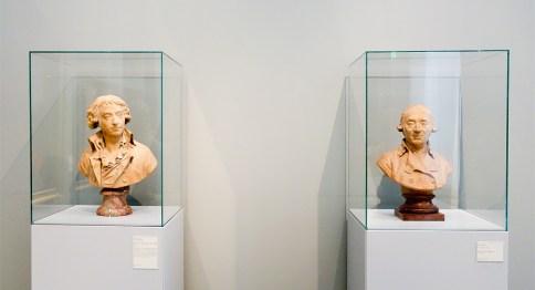 Augustin Pajou, Bustes de Jean-Baptiste et Maurice Riban, 1792-1793 - Le Musée avant le Musée au Musée Fabre