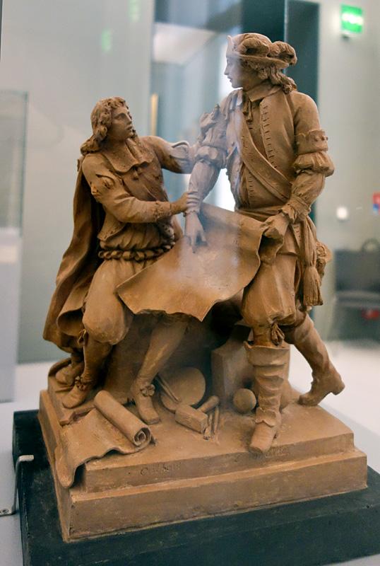 Augustin Pajou, La Marine ; Colbert et Duquesne, 1786 - Le Musée avant le Musée au Musée Fabre