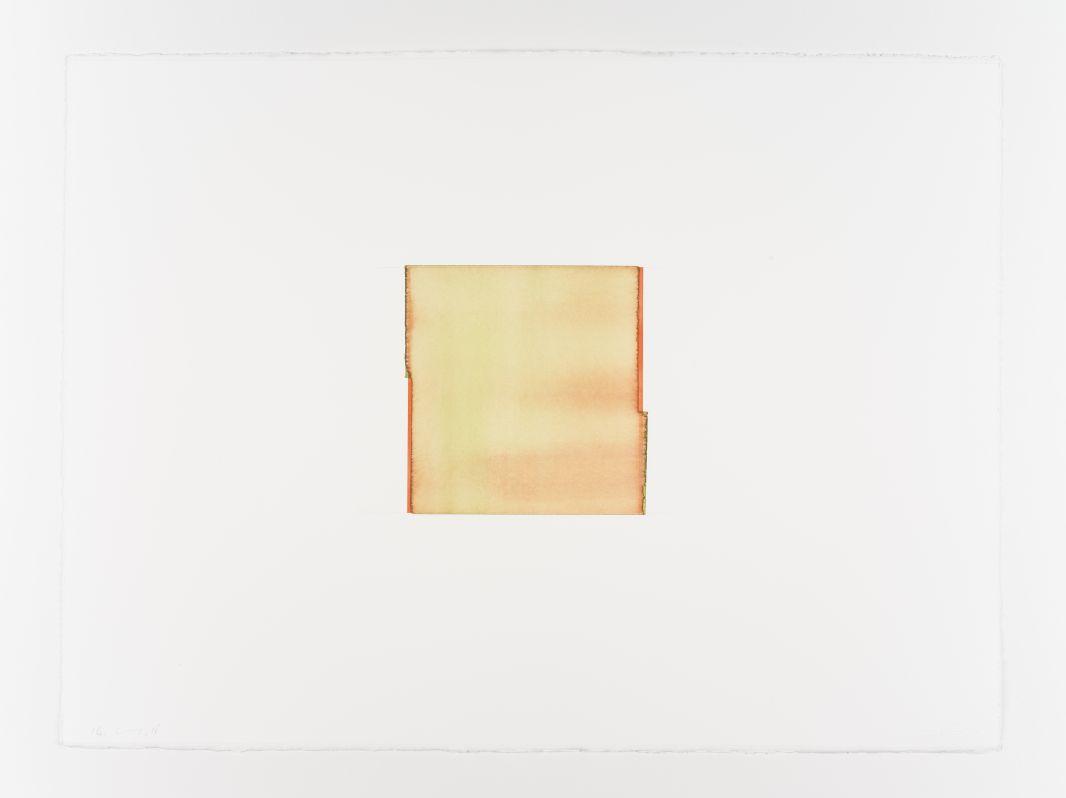 Callum Innes, Cadmium Orange /permanent Green, 2018