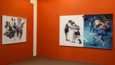 Mohamed Lekleti - Vue de l'exposition «4 à 4» au Musée Paul Valéry - Sète