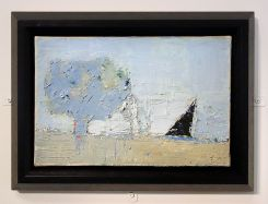 Nicolas de Staël, Paysage de Provence, 1953 - l'Hôtel de Caumont - Salle 1 - « Paysages de marche », à la découverte du Vaucluse